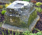 Carved Roman Stone in Crescent Gardens, Filey.