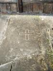 Gravestone of St Margaret Clitheroe at Stydd Chapel.