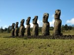 Easter Island (Ahu-Akivi) Photo Credit: Wikipedia.