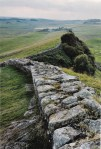 A section of Hadrian's Wall (photo by Moldovian1 for Wikipedia)