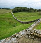 Hadrian's Wall from Housesteads Fort (photo by Jamesflomonosoff - for Wikipedia)
