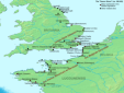 Map of The Saxon Shore Forts (Wikipedia)