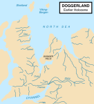 Map of Doggerland c8,000 BCE (photo credit: Max Naylor for Wikipedia)