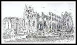 Whitby Abbey (Line Drawing 1960's)