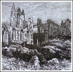 Whitby Abbey Ruins (old illustration).
