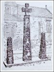 Ancient Crosses at Ilkley, (Illustration)