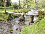 The Clapper Bridge at Wycoller, Lancashire.
