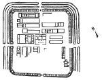 Plan of Segontium Roman Fort (after Collingwood, 1930)