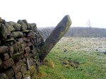 The Pole Stoop Stone, near Cowling, west Yorkshire.