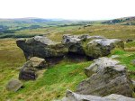 Bridestones, west Yorkshire (the anvil-shaped rock)