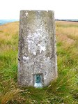 OS trig point no. S4563 on Rivock Edge.