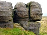 Bridestones (human face rock formation).