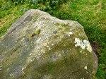 Cob Stone, beside Grey Stones Lane (cluster of cup-markings).