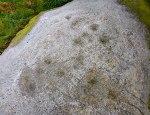 Greystones Farm Cup-Marked Rock (close up)