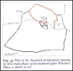 Plan of Stanwick Fortifications (after Wheeler)